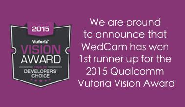 WedCam-Qualcomm Vuforia Vision Awards-en